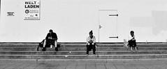 Smartphone Solitude (Anjuli Lohmller) Tags: white black bw street urban city berlin humans people life smartphone kurfrstendamm gedchtniskirche solitude society