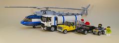 Scale in Lego (MacSergey) Tags: lego helicopter truck farmer ford volvo mi mi171 mi17 mi8 mil milk pig lamborghini miura atv  scale       17 171 8          super supercar