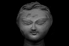Conversations in Clay (Papiya Banny) Tags: delhi durga puja india conversations clay black white portrait soil earth celebration god goddess muse model idol contemporary isolated art fine new papiya curiousfoots artist artistic light highlight sharp subtle story occasion bengali