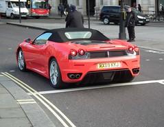 Ferrari F430 F1 (kenjonbro) Tags: uk red england london westminster spider rear trafalgarsquare convertible f1 ferrari spyder cabrio 2009 charingcross f430 sw1 kenjonbro fujifilmfinepixhs10 rx09kyj