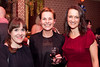 Paula McEntee, Breda Long Orla Kane Bord na M�na hosted a cosy drinks evening in aid of the Short Stories For A Long Night book supporting Focus Ireland. Irish singer/songwriter, Mundy was the seancha� for the night and duetted alongside TV3's Elaine Crowley.