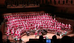 San Francisco Gay Men's Chorus (SFGMC) in santa suits at Davies Symphony Hall 11-6-12 (delight.1027) Tags: sfgmc sanfranciscogaymenschorus