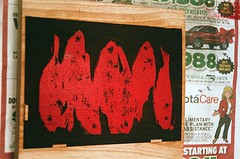 08950025-16 (jjldickinson) Tags: olympusom1 fujicolorsuperiaxtra400 roll395 promastermcautozoommacro2870mmf2842 promasterspectrum772mmuv wrigley print printmaking card laserengraving cherry wood woodblock carving mokuhanga red longbeach