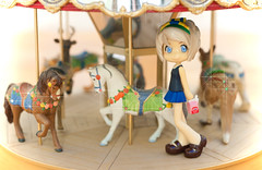 Spin 'n' Sparkle (WhyDolls) Tags: carnival light horses cute glitter toy miniature doll shine bright circus magic sandy innocent carousel fair sparkle lolita kawaii figure pinkyst pinkystreet merrygoround sparkly pk021