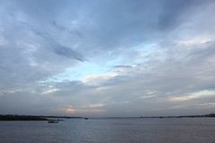 sunset over the mekong (Little Raven) Tags: cruise sunset river boat asia cambodia southeastasia ride cloudy kingdom phnompenh mekong kingdomofcambodia tonlsap