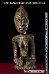 SongyeFigure002f (African Tribal Creations) Tags: wood art mask antique african tribal carving figure congo stool drc creations songe handcarved democraticrepublicofcongo songye wasonga songhay basonge bassongo basongye bayembe