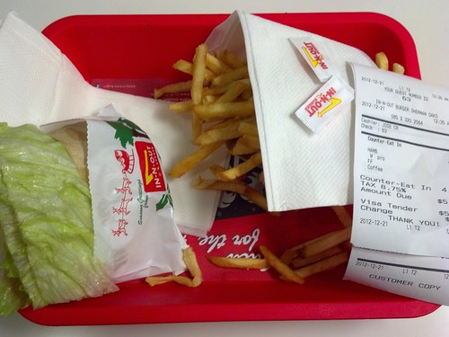 Protein Style Burger and Fries at In-N-Out Burger in Sherman Oaks, California