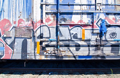 Nekst (TheHarshTruthOfTheCameraEye) Tags: 30 train graffiti rip dirty kings msk mad dts society pcf d30 freight nekst madsocietykings dirty30 benching freighttraingraffiti