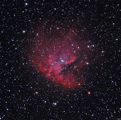 NGC-281 (Chuck Manges) Tags: sky stars ed space ngc apo nebula astrophotography pacman astronomy deepspace refractor 102mm deepsky apochromatic nebulosity ngc281 oriontelescope Astrometrydotnet:status=solved Astrometrydotnet:version=14400 qhy9m ed102t startools germanequatorial Astrometrydotnet:id=alpha20121290077513