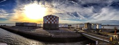 Panoramic view of the terminal (Rhannel Alaba) Tags: spain terminal bow barreiro iphone4s bracaria snapseed