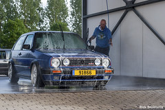 Volkswagen Golf MkII G60 (Rick Bruinsma) Tags: blue dutch car golf volkswagen bright metallic nederland meeting rr carwash turbo wash foam static mk2 gti lm rs bbs luxemburg treffen mkii stance vr6 camber rm g60 reifen felgen luxebourg