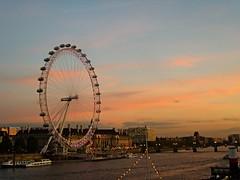 Sunset over the eye (lcfcian1) Tags: blue sunset sky orange london eye wheel clouds nice dusk londoneye riverthames londonnight londonsunset londoneyesunset riverthamessunset