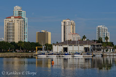 St. Petersburg Waterfront (Valrico Shooter) Tags: water skyline architecture marina boats waterfront palmtrees sailboats hdr stpetersburgfl