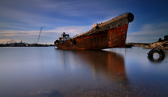 Resting warrior (RF-Edin) Tags: sea water nikon rust ship hellas battle greece shipwreck salamina leefilters d300s bigstopper kunosoura