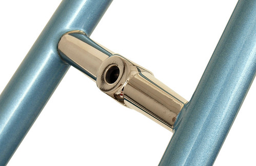 <p>Waterford stainless steel rear brake bridge, machined to fit dual pivot brakes, on an English Blue (metallic) frame.  64237</p>