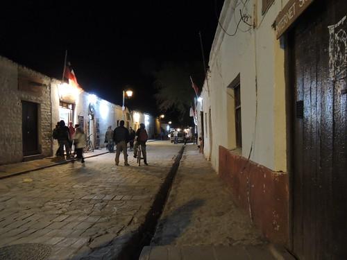 San Pedro de Atacama de noche.