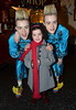 John Grimes and Edward Grimes aka Jedward and Christina Fallon at the Olympia Theatre during a performance of the panto 'Jedward & the Magic Lamp.' Colin Farrell was in attendance with his oldest son James Dublin