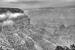 Grand Canyon Black and White (GMills31) Tags: arizona snow blackwhite nationalparks grandcanyonnationalpark