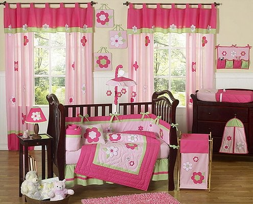 Flowers-9-piece-Crib-Bedding-Set
