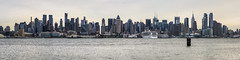 New Year's Eve Day Panorama from Weehawken (Michael.Lee.Pics.NYC) Tags: cruise sea sky panorama newyork skyline museum port river ship cloudy manhattan space air norwegian shuttle imperial intrepid hudson enterprise hdr gem weehawken