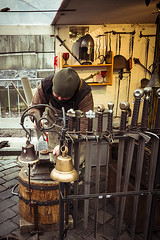 Blacksmith at work in old town square - Prague (RMFearless) Tags: christmas prague praha praga smith sword blacksmith craftsman natale artigiano bancarella cittvecchia iorn maniscalco fabbro staromstsknmstoldtownsquare