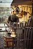 Blacksmith at work in old town square - Prague (RMFearless) Tags: christmas prague praha praga smith sword blacksmith craftsman natale artigiano bancarella cittàvecchia iorn maniscalco fabbro staroměstskénáměstíoldtownsquare