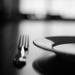 possibility {4/365} (tara on the wander) Tags: food monochrome silverware fork process day4 placesetting day4365 3652013 365the2013edition 04jan13