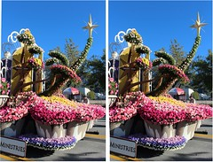 Lutheran Hour Ministries Float, 2013 (rgb48) Tags: california flowers roses 3d stereo pasadena roseparade floats crosseyedstereo flowerscolors 2013 lutheranhourministries