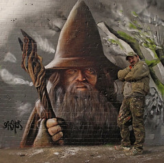 Gandalf ('gnasher') Tags: wizard gandalf gnasher thehobbit leakestreet gnashermurals