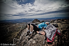 Lis Sleeping on Top of Crater Mountain