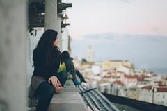 . (// The Kitcheners //) Tags: red panorama portugal girl myself nikon honeymoon view lisbon kitchenerphotography
