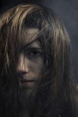 (BryanONeill) Tags: portrait girl dark hair scary model pretty shadows pentax smoke teen messy mysterious strobe