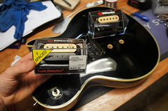 DiMarzio Super Distortion ready to be soldered in! Pickup installation at Jack's Instrument Services (Jack's Instrument Services) Tags: salford luthier the fre guitartech brokenheadstock headstockbreak lowaction guitarrepairs guitaraction talesfromtheworkbench guitarsetups guitarrepairermanchester pickuprewind pickupwinding guitarsetupmanchester