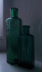 Not to be taken (Blonde_Batgirl) Tags: green glass bottles medicine nottobetaken
