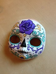 A sugar skull girl in aqua and purple :)