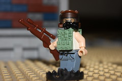 Wandering The Wastes (Mr. Asdkk) Tags: brick war gun lego air lime balaclava woooot