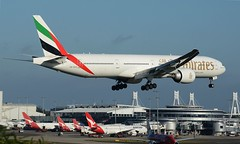 Emirates | Boeing 777-31H/ER | A6-EGA. (Jaryd Stock Photography) Tags: flying airport aircraft aviation uae flight sydney landing emirates boeing 777 yssy 777300 16r34l a6ega