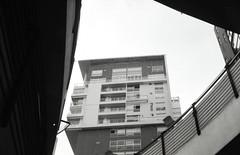 Ramblas Mall (karim_dealba) Tags: karimdealba film fuji across 35mm miranda building black white windows