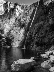 The White WaterFall (ozzios) Tags: elalriver pool color nature blackandwhite israel waterfall whitewaterfall ramathagolan rocks shachorlavanil