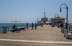 Santa Monica Pier (Anthony's Olympus Adventures) Tags: santamonica santamonicapier jetty beach ocean water sky pacificocean ca california usa america losangeles la pier seascape olympusomd em10 olympusem10 omd microfourthirds