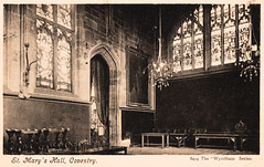 Coventry - St. Mary's Hall (pepandtim) Tags: postcard old early nostalgia nostalgic coventry st marys hall 24hal25 wyndham series stratford london october 1911 ayres hawarden road blackhorse walthamstow jack lucy company sophie katie james alice stained glass