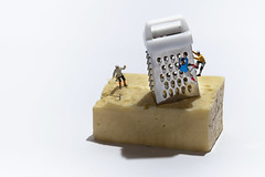 Cheddar Gorge (abnormally average) Tags: souppickle cheddargorge somerset cheddar grater cheese food fun climb climbing imagination littlepeople miniature ho hoscale hofigures preiser