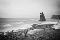 Davenport Beach (FengboLi) Tags: coastal california beach rock ocean waves blue cloudy outdoor landscape seascape