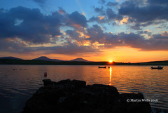 Golden Loch Caroy - Isle of Skye (mpw1421) Tags: nikon d60 unlimitedphotos scotland scottishhighlands isleofskye summer golden gold sunsets sunset lochcaroy loch lochbracadale boats sea ngc