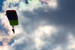 Gliding Through Iridescent Clouds (Kris_wl) Tags: parachute glider glide fly drift flying soaring iridescentclouds floating sport skydiving skydive