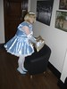 CIMG6764 (sissybarbie1066) Tags: baby satin sissy maid uniform blue plumping cushion sissymaid