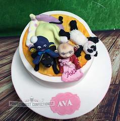 Ava - Christening Cake (PerfectionistConfectionist) Tags: christeningcake christeningcakedublin namingdaycake namingdaycakedublin caketoppersdublin babycaketopper