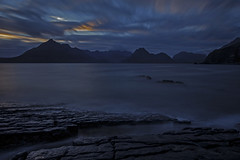 Venturesome (Turnpops) Tags: elgol isleofskye skye thecullins scotland sunset sea waves rocks clouds long exposure le canon6d