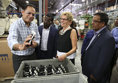 IMG_1100  Premier Kathleen Wynne toured RAM Plastics in Scarborough. (Ontario Liberal Caucus) Tags: scarborough industry thiru smallbusiness business