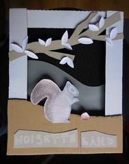 Noisette Land (Nath B.) Tags: cureuil squirrel noisette nuts automne fall automn paper papier craft carton art